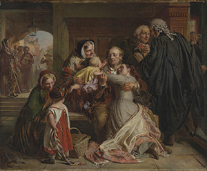 Abraham Solomon's painting - Not Guilty